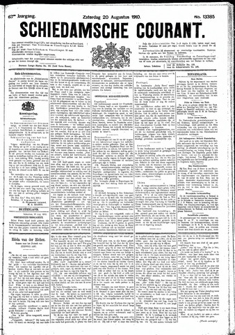 Schiedamsche Courant 1910-08-20