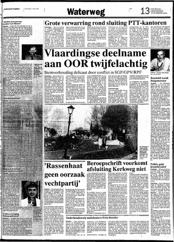 Rotterdamsch Nieuwsblad / Schiedamsche Courant / Rotterdams Dagblad / Waterweg / Algemeen Dagblad 1991-04-11