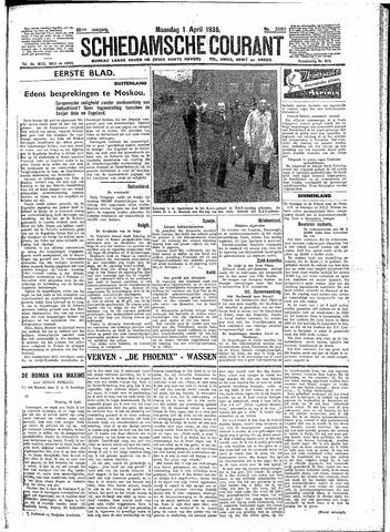 Schiedamsche Courant 1935-04-01