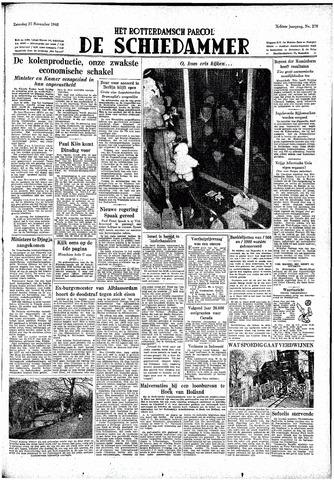 Rotterdamsch Parool / De Schiedammer 1948-11-27