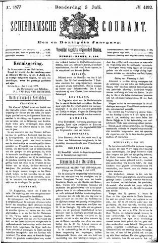 Schiedamsche Courant 1877-07-05