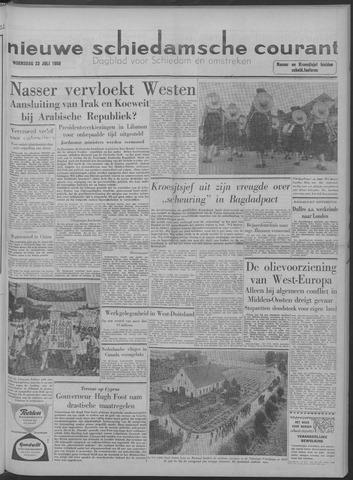 Nieuwe Schiedamsche Courant 1958-07-23