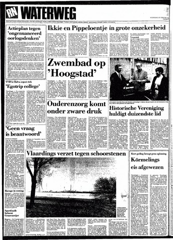 Rotterdamsch Nieuwsblad / Schiedamsche Courant / Rotterdams Dagblad / Waterweg / Algemeen Dagblad 1991-02-20