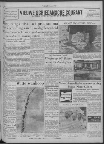 Nieuwe Schiedamsche Courant 1958-02-28