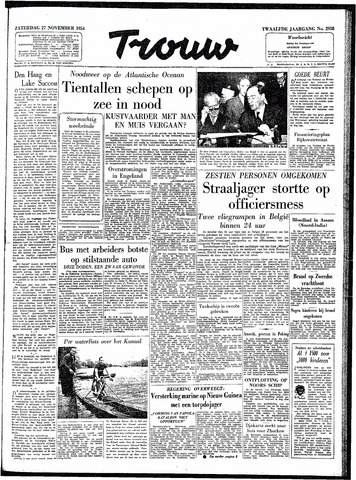 Trouw / De Rotterdammer 1954-11-27