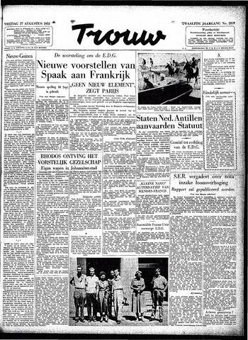 Trouw / De Rotterdammer 1954-08-27