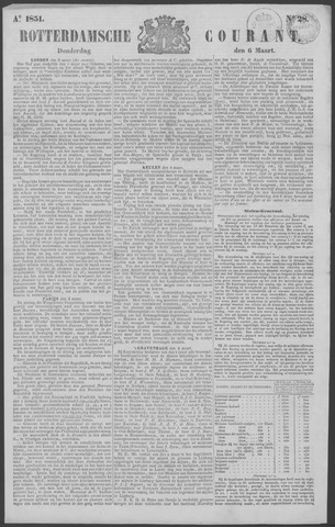Rotterdamse Courant 1851-03-06