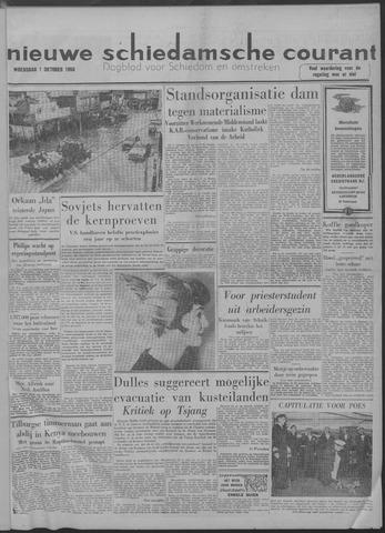 Nieuwe Schiedamsche Courant 1958-10-01
