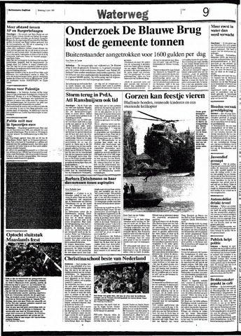 Rotterdamsch Nieuwsblad / Schiedamsche Courant / Rotterdams Dagblad / Waterweg / Algemeen Dagblad 1991-06-03