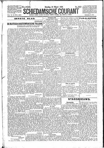 Schiedamsche Courant 1931-03-31