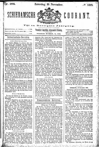 Schiedamsche Courant 1881-11-19