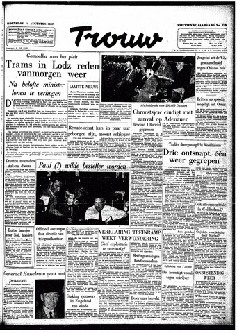 Trouw / De Rotterdammer 1957-08-14