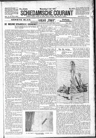 Schiedamsche Courant 1931-07-01