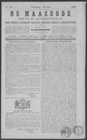De Maasbode 1853-04-13