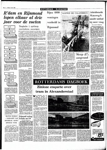 Rotterdamsch Parool / De Schiedammer 1968-04-05