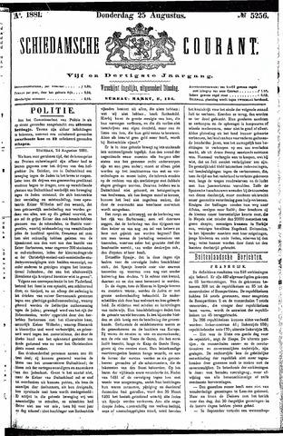 Schiedamsche Courant 1881-08-25