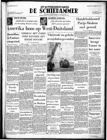 Rotterdamsch Parool / De Schiedammer 1963-02-04
