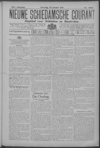 Nieuwe Schiedamsche Courant 1918-01-26