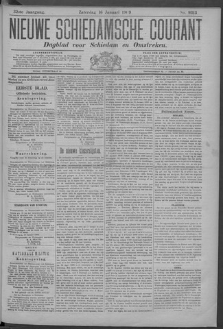 Nieuwe Schiedamsche Courant 1909-01-16