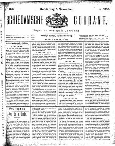 Schiedamsche Courant 1885-11-05