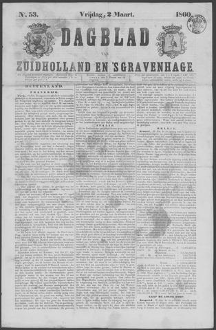 Dagblad van Zuid-Holland 1860-03-02