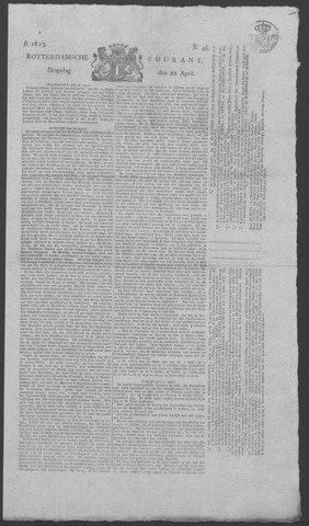 Rotterdamse Courant 1823-04-22