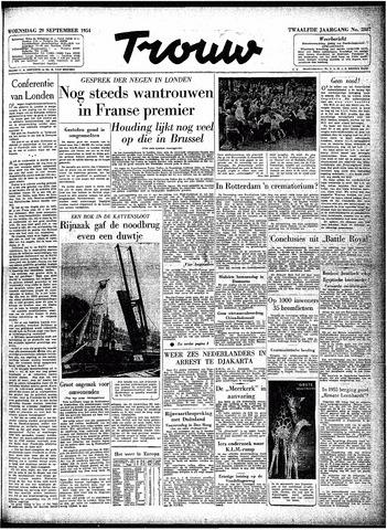 Trouw / De Rotterdammer 1954-09-29