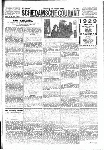 Schiedamsche Courant 1929-01-14