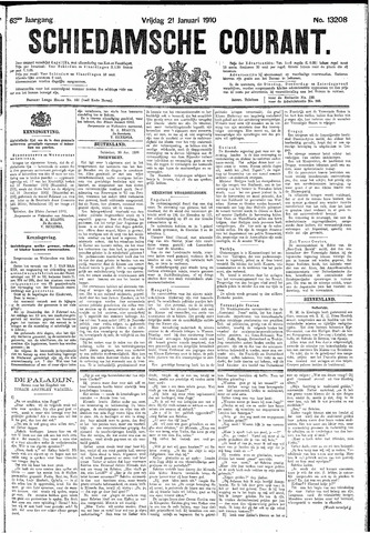 Schiedamsche Courant 1910-01-21