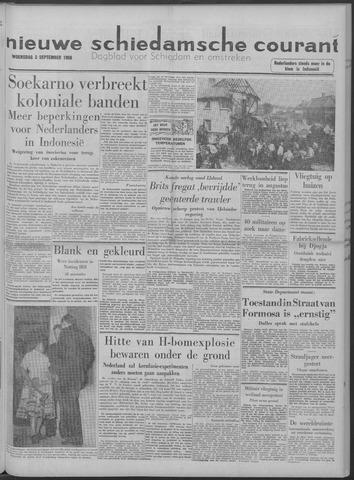 Nieuwe Schiedamsche Courant 1958-09-03