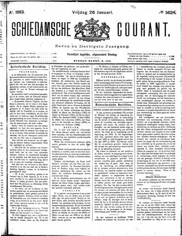 Schiedamsche Courant 1883-01-26