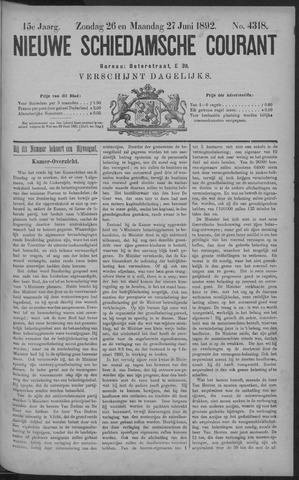 Nieuwe Schiedamsche Courant 1892-06-27