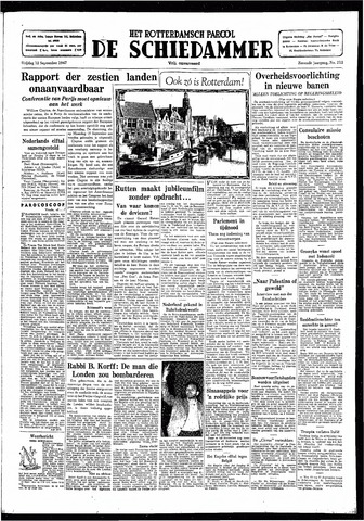 Rotterdamsch Parool / De Schiedammer 1947-09-12