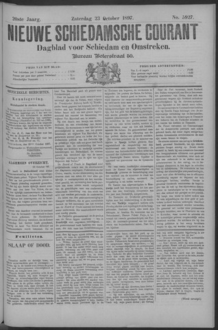 Nieuwe Schiedamsche Courant 1897-10-23
