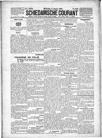 Schiedamsche Courant 1935-01-02