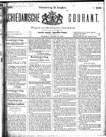 Schiedamsche Courant 1885-01-15