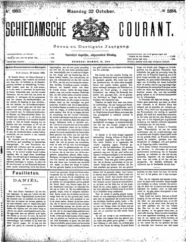 Schiedamsche Courant 1883-10-22