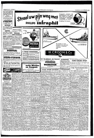 Rotterdamsch Nieuwsblad / Schiedamsche Courant / Rotterdams Dagblad / Waterweg / Algemeen Dagblad 1953-11-18