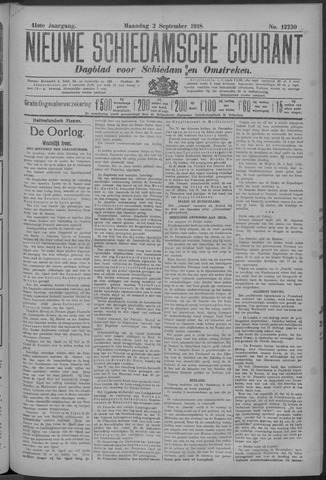 Nieuwe Schiedamsche Courant 1918-09-02
