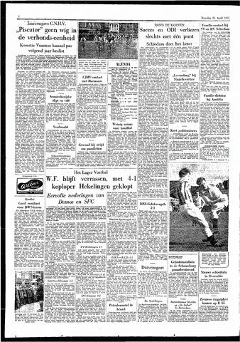 Rotterdamsch Parool / De Schiedammer 1955-04-25