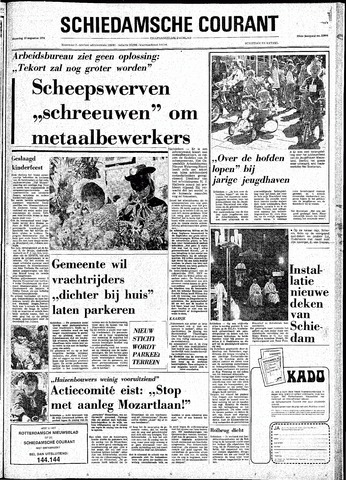 Rotterdamsch Nieuwsblad / Schiedamsche Courant / Rotterdams Dagblad / Waterweg / Algemeen Dagblad 1974-08-19