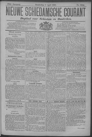 Nieuwe Schiedamsche Courant 1909-04-08