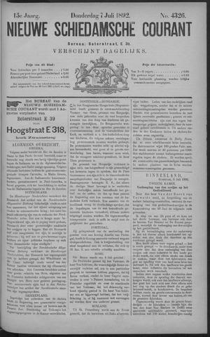 Nieuwe Schiedamsche Courant 1892-07-07
