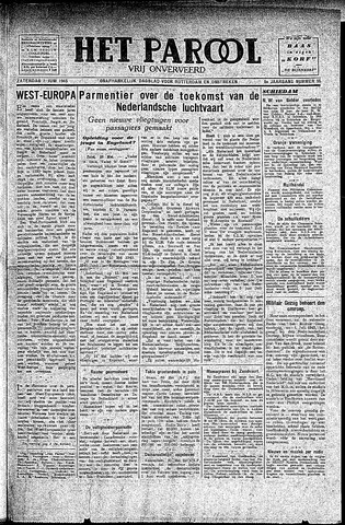 Rotterdamsch Parool / De Schiedammer 1945-06-02