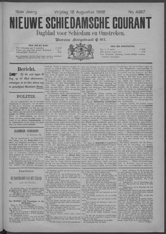 Nieuwe Schiedamsche Courant 1892-08-12
