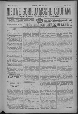 Nieuwe Schiedamsche Courant 1918-07-18