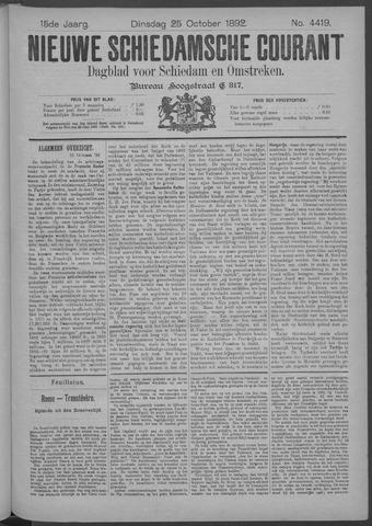 Nieuwe Schiedamsche Courant 1892-10-25
