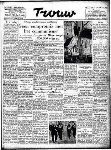 Trouw / De Rotterdammer 1954-01-09