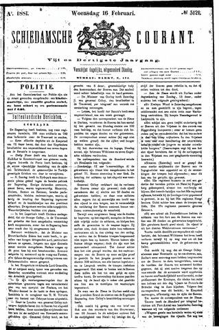 Schiedamsche Courant 1881-02-16