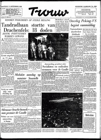 Trouw / De Rotterdammer 1958-09-15